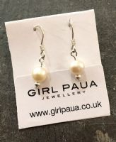 Freshwater Pearl & Silver Bead Earrings FE02